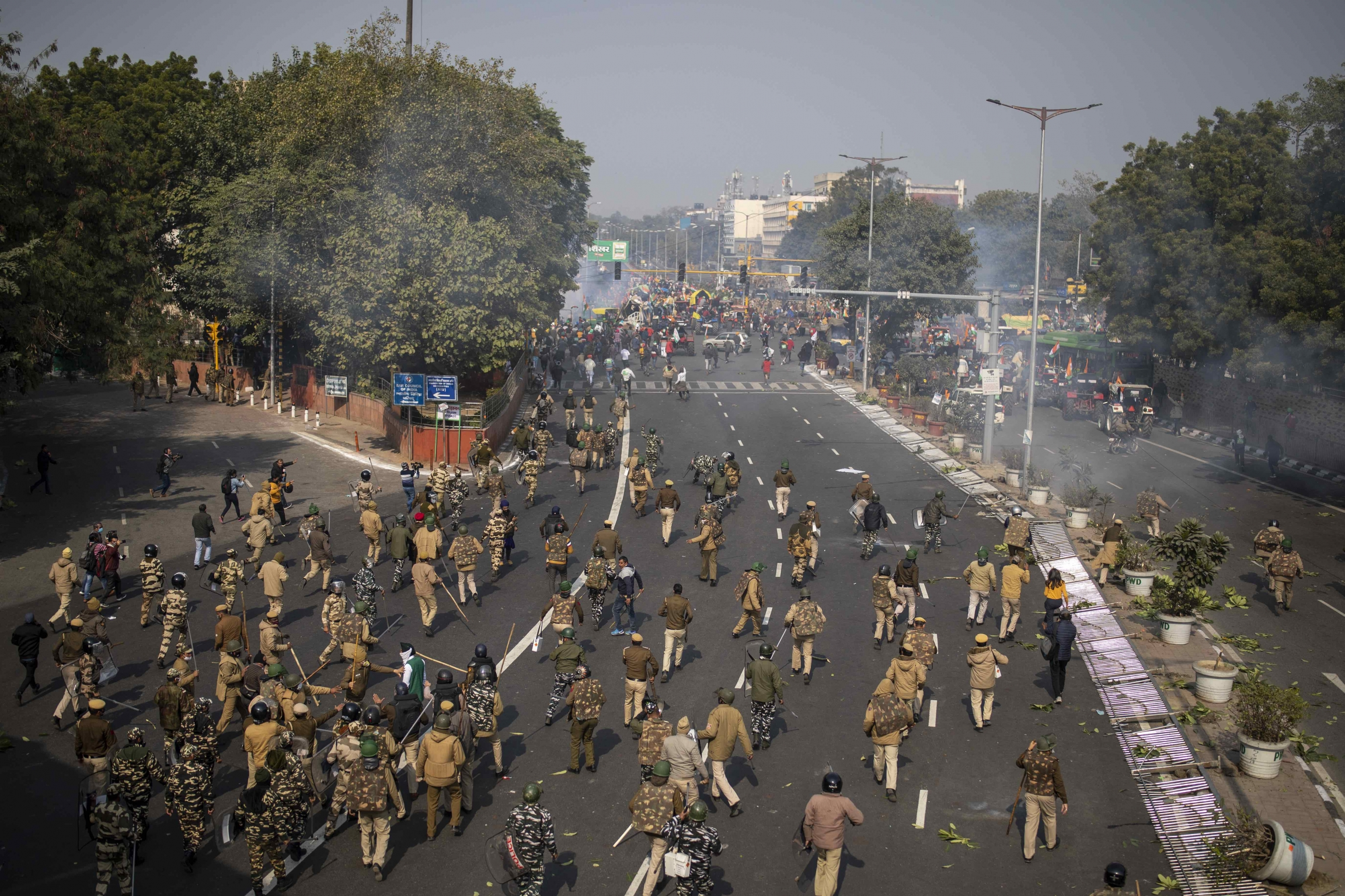 Protesters defied tear gas and stormed the historic Red Fort as India celebrated Republic Day.