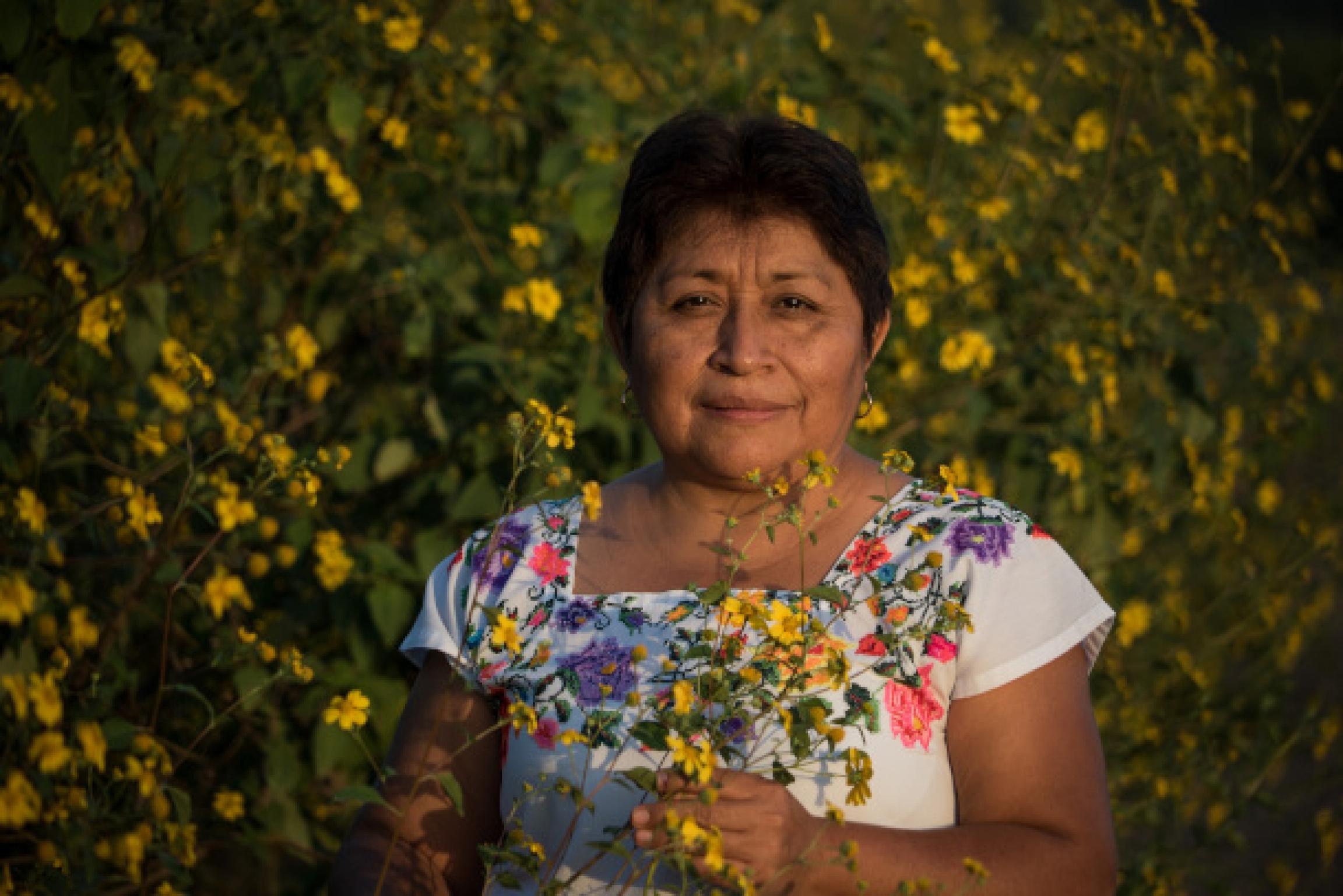 A photo of Leydy Pech, a Mayan beekeeper
