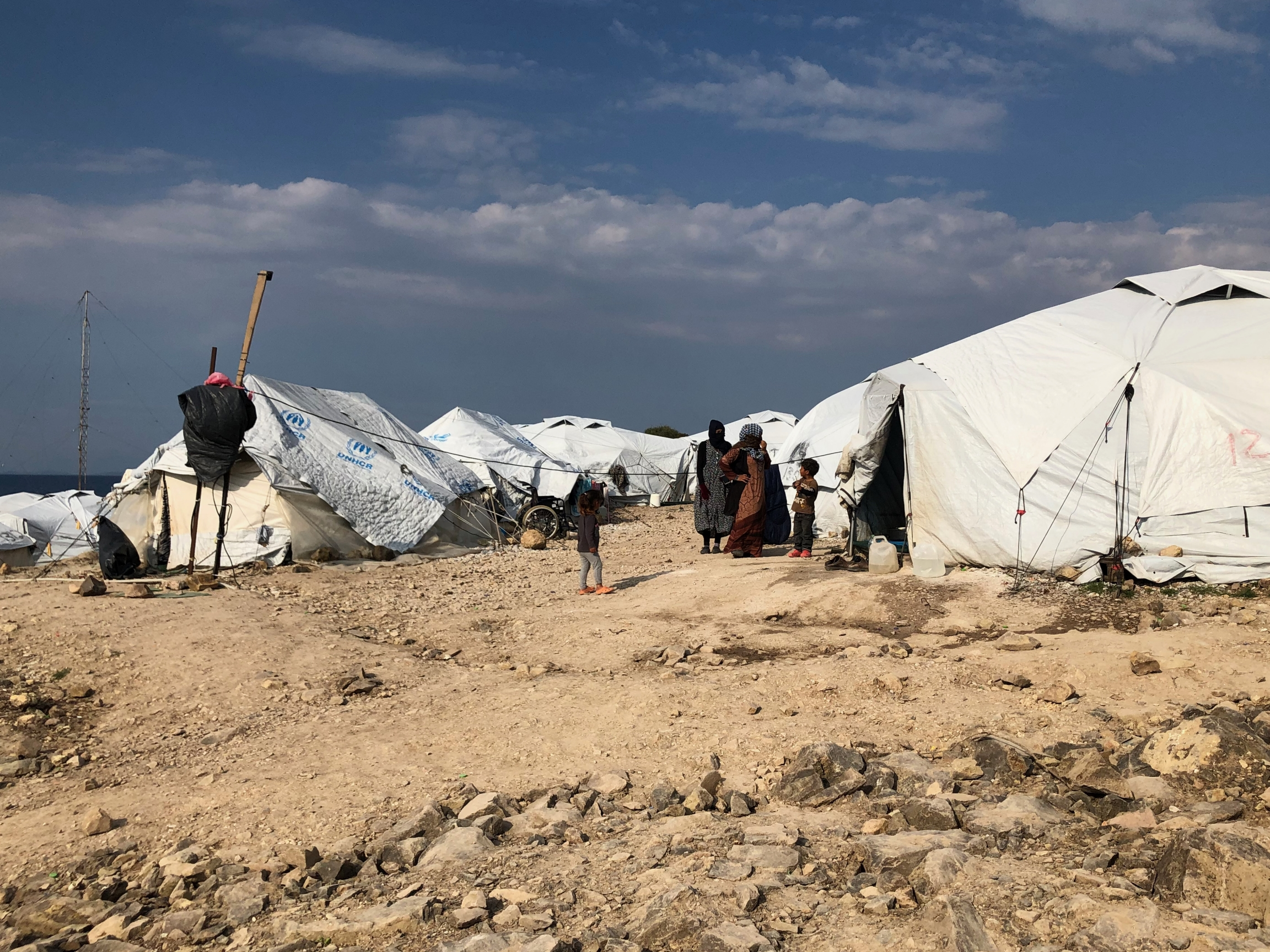 Approximately 7,000 asylum-seekers and refugees live in the temporary Mavrovouni camp on Lesbos.