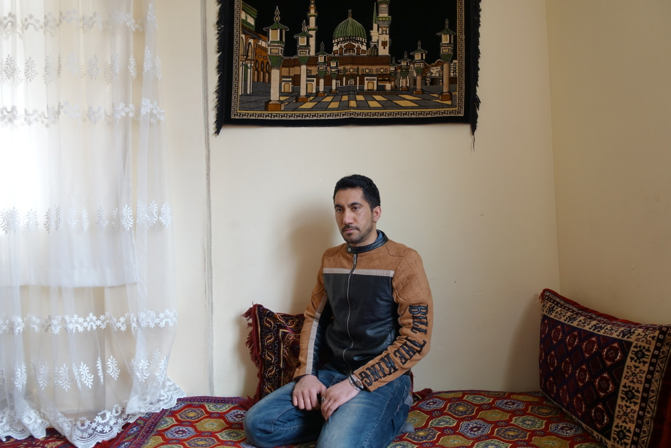 Jamil, 25, worked as a tailor in Afghanistan. But the Taliban threatened him because he made clothes for women as well as men.