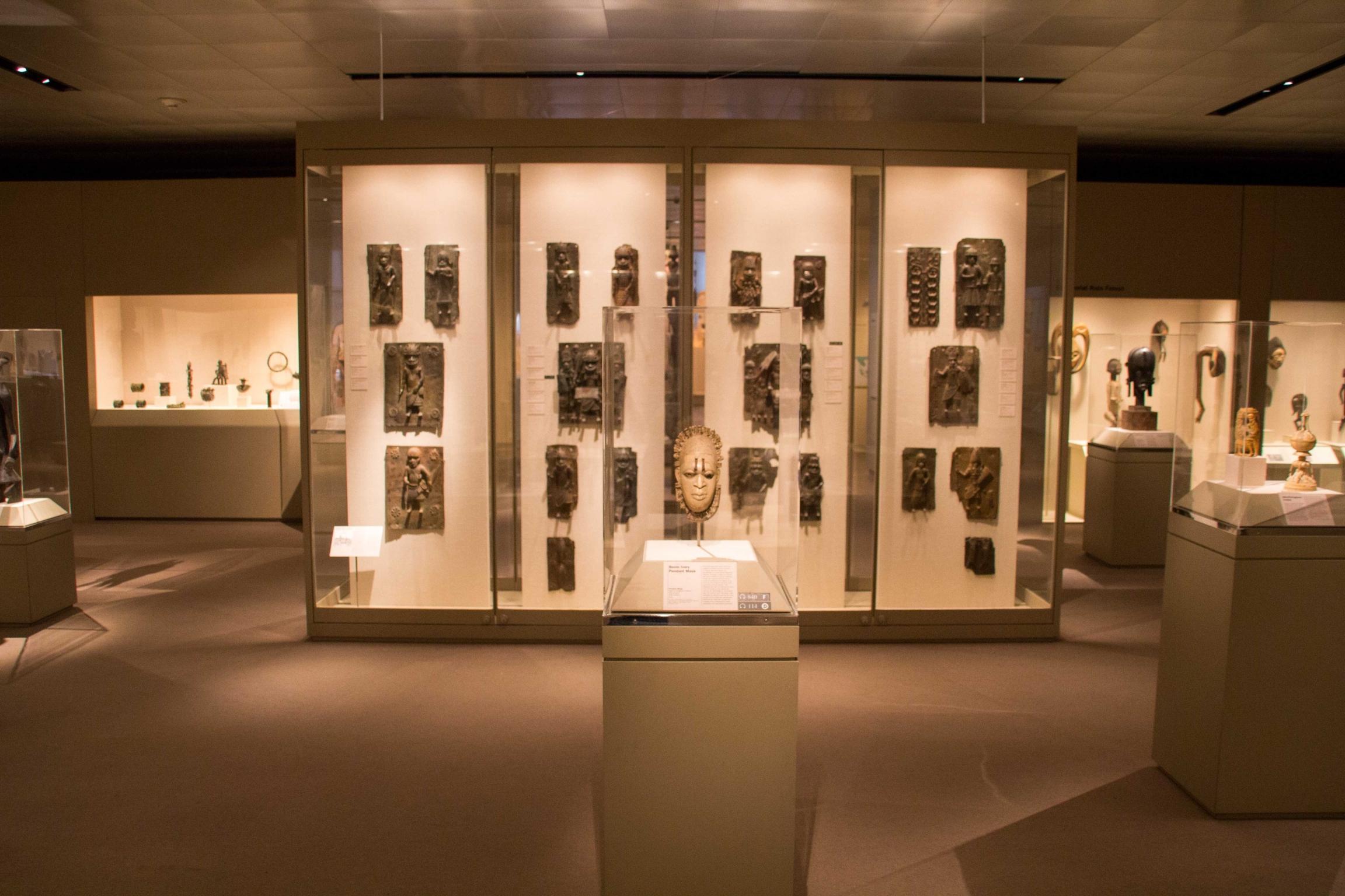 Benin bronzes at theMetropolitan Museum of Art inNew York City. Photo was taken in 2017.