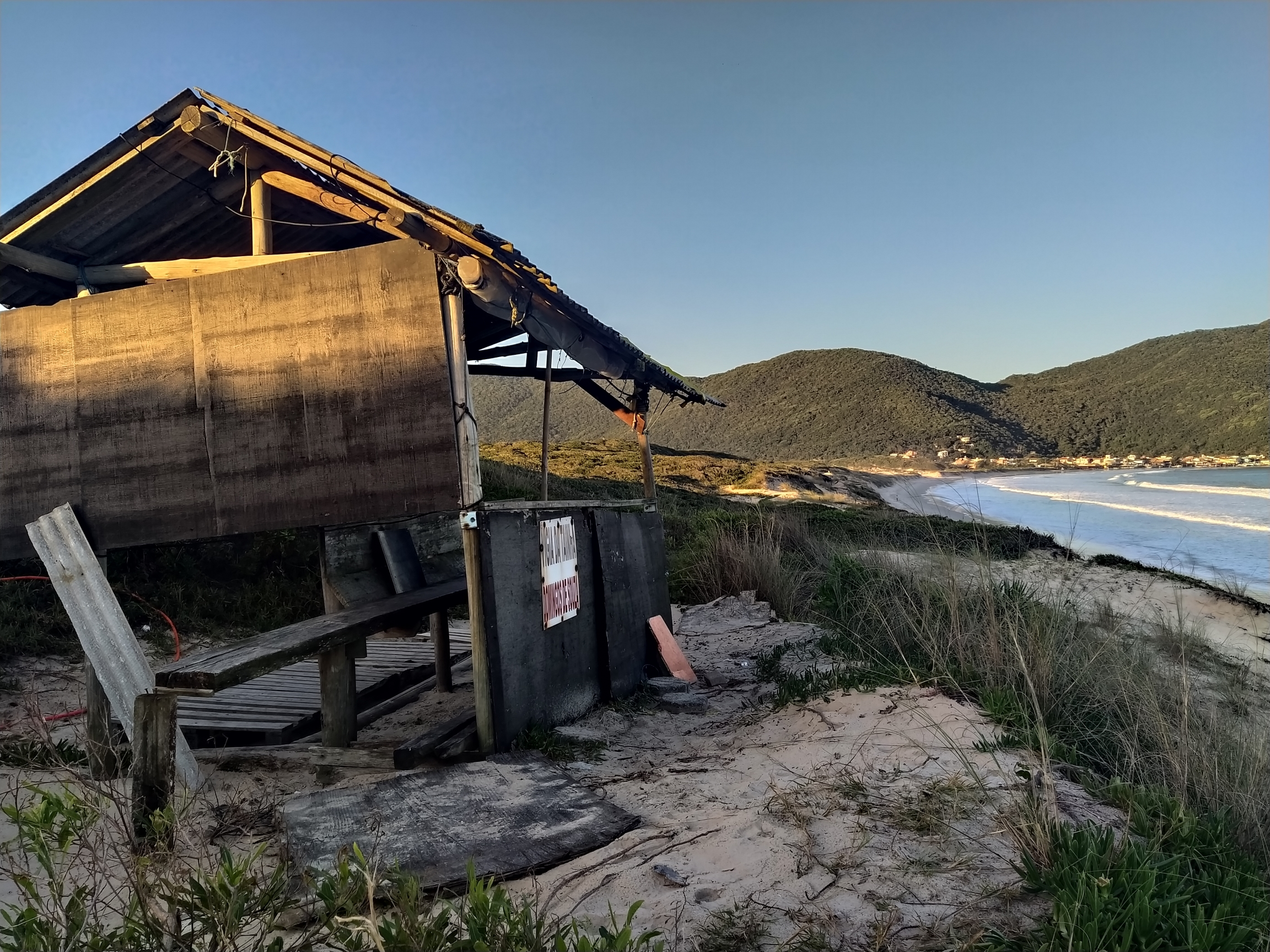 A small fishers' hut in  Pantano do Sul.