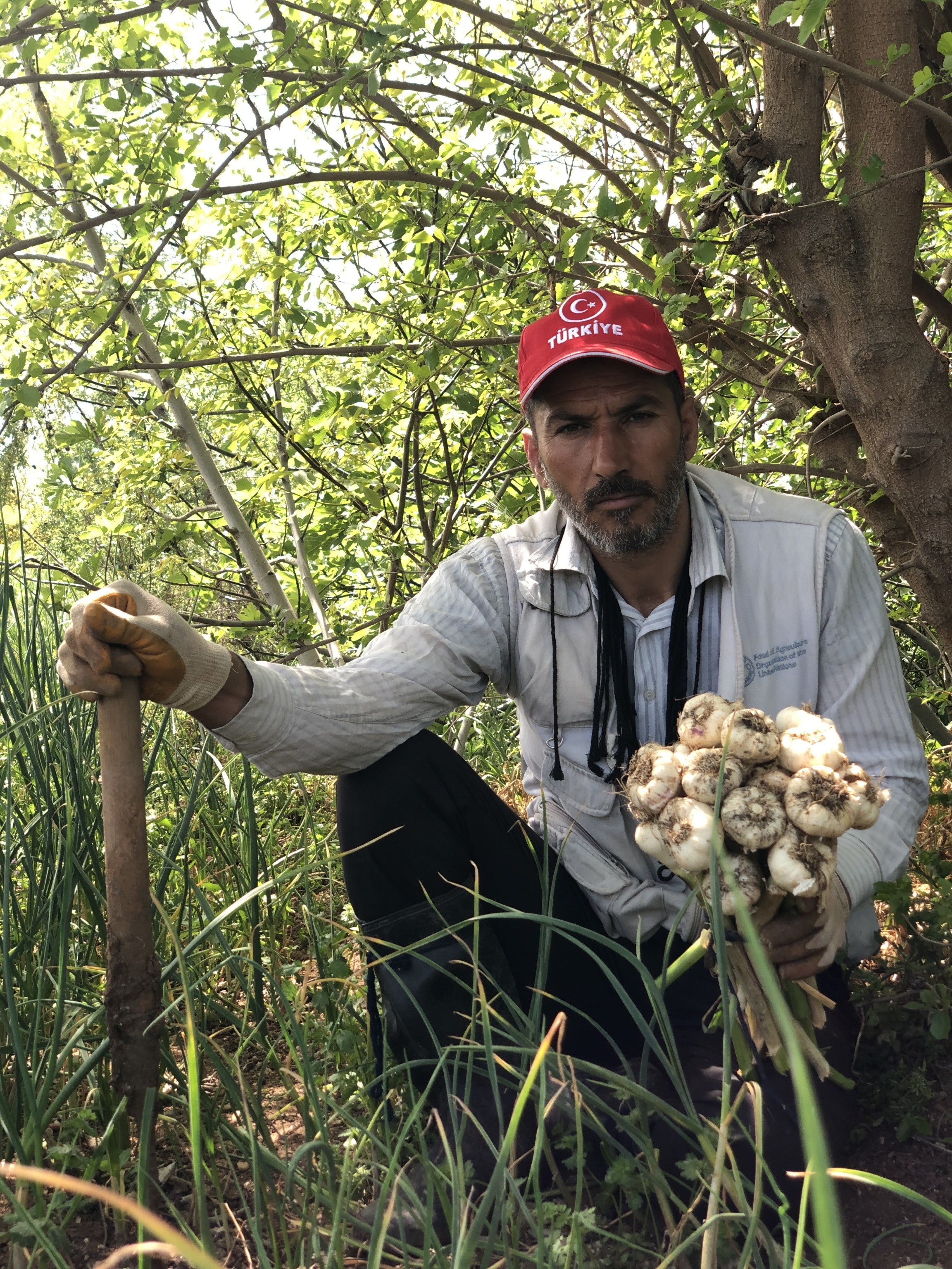 """""""Assad is an oppressor and he has to go,"""" said Samer Haj Khalid, a 40-year-old farmer who was displaced from his home in Idlib at the start of the war in 2011."""