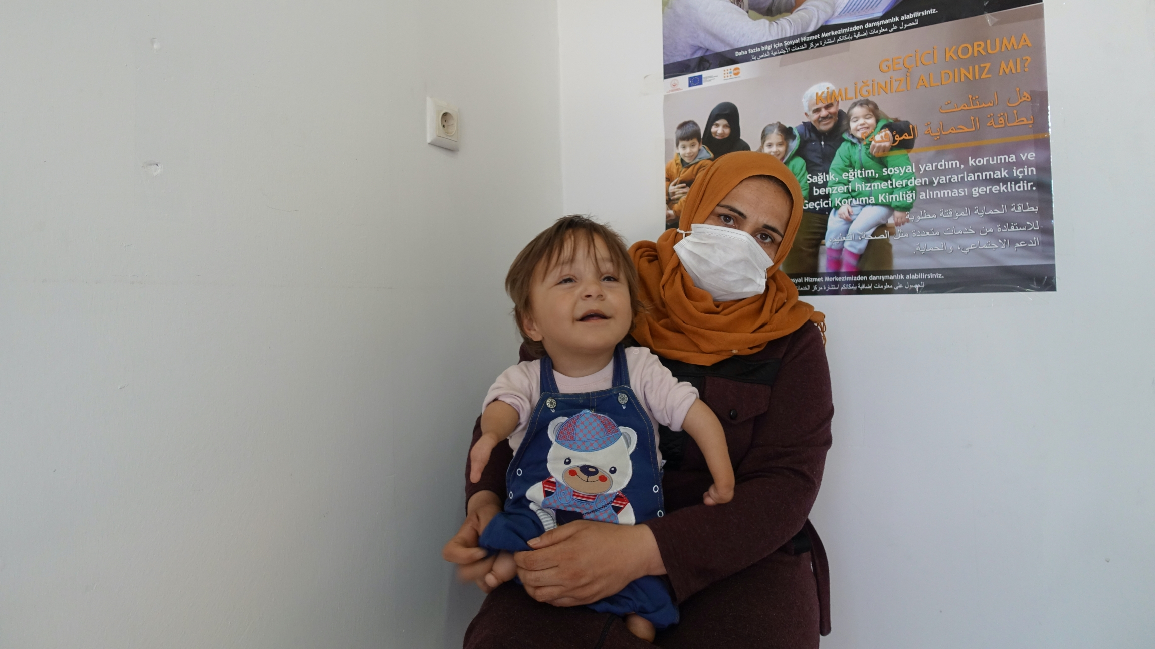 Thirty-five-year-old Dalya Khaled al-Masoud said she had two perfectly healthy pregnancies prior to her daughter Fatema. She believes the chemical attack in Khan Sheikhoun led to her daughter's deformities.