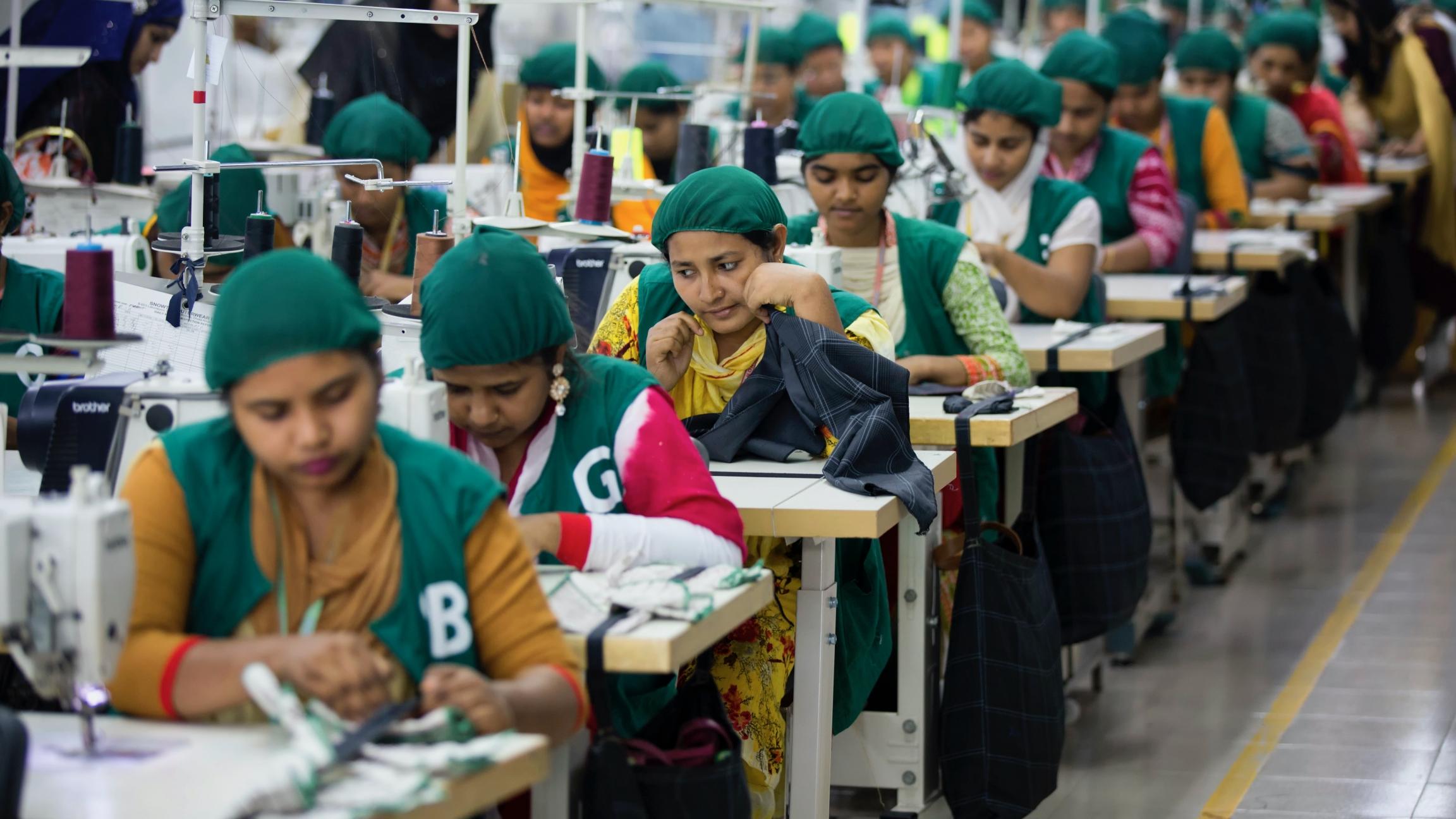 Trainees work at Snowtex garment factory in Dhamrai, near Dhaka, Bangladesh