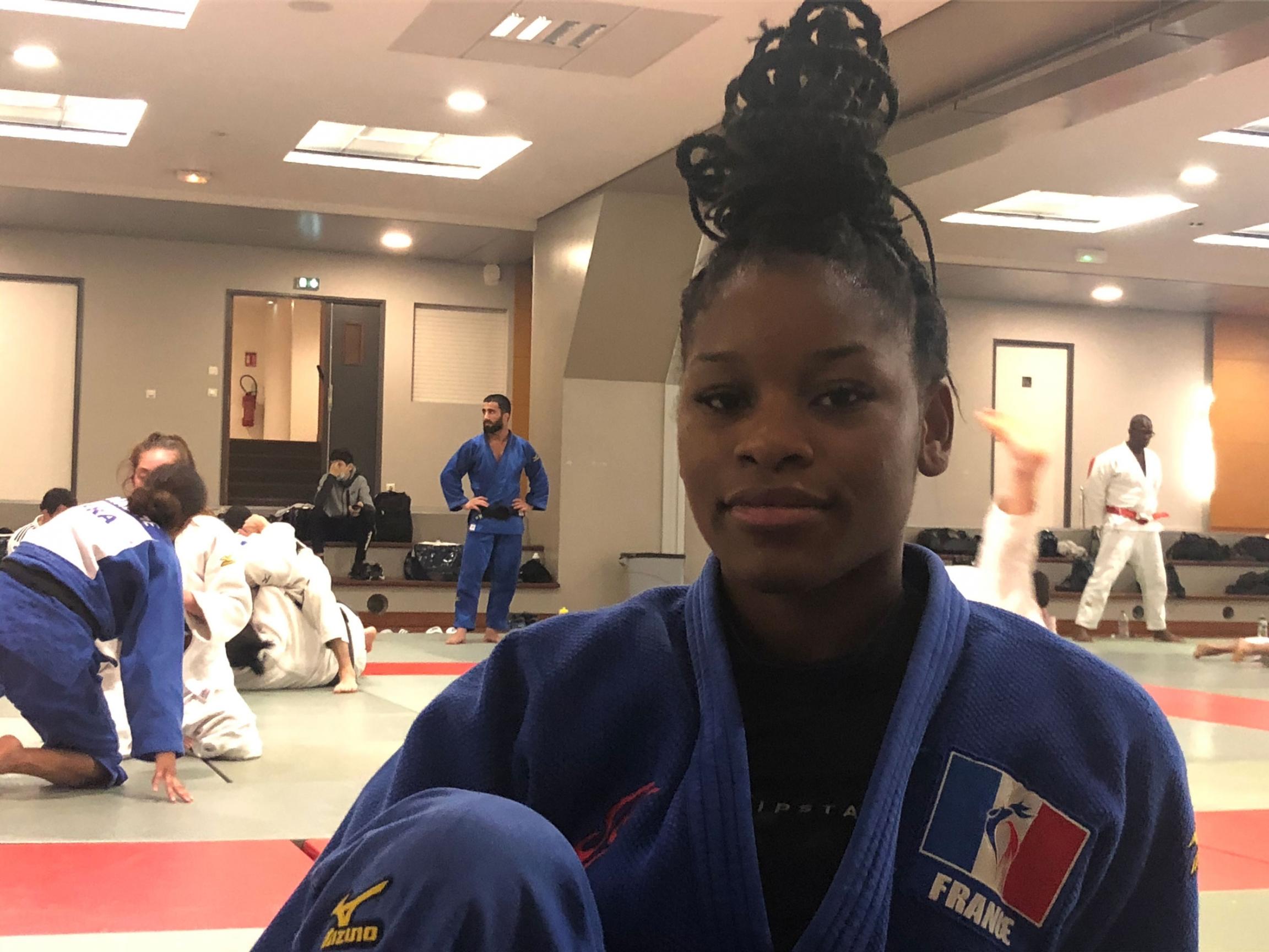 Kaila Issoufi, 21, practices judo.