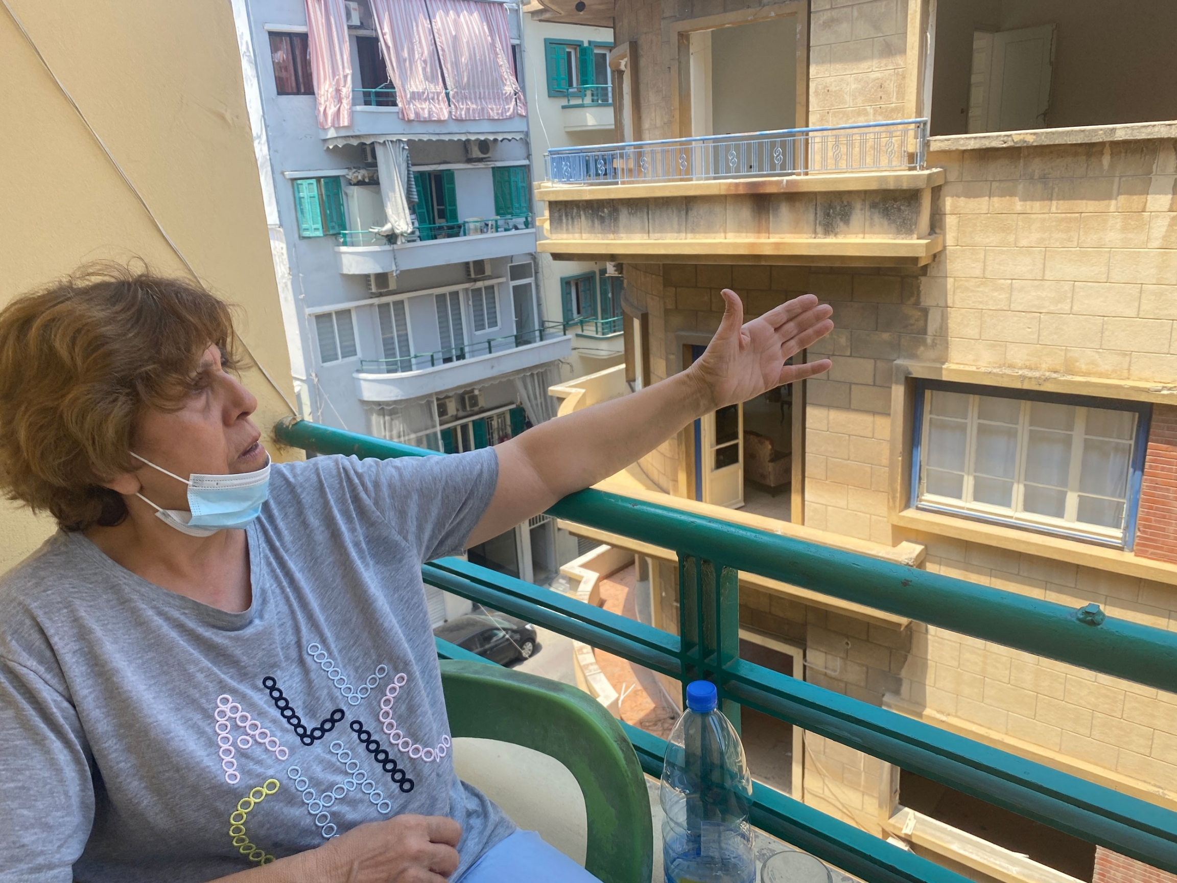 In the days after the blast, Norma Irani refused to leave her windowless, doorless home.