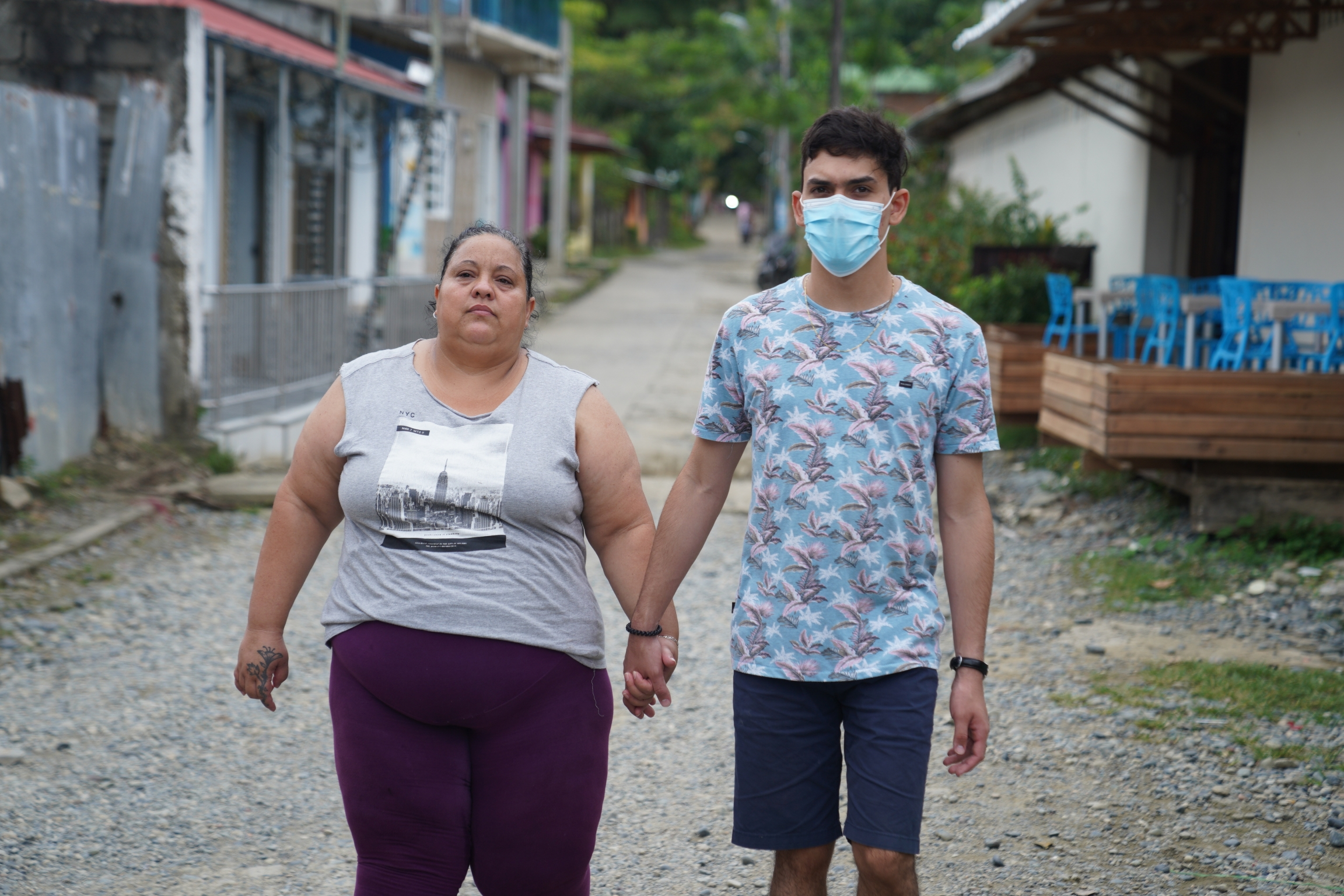 Danay Valdez and her son Raisel, who have tried to cross the Darien Gap three times