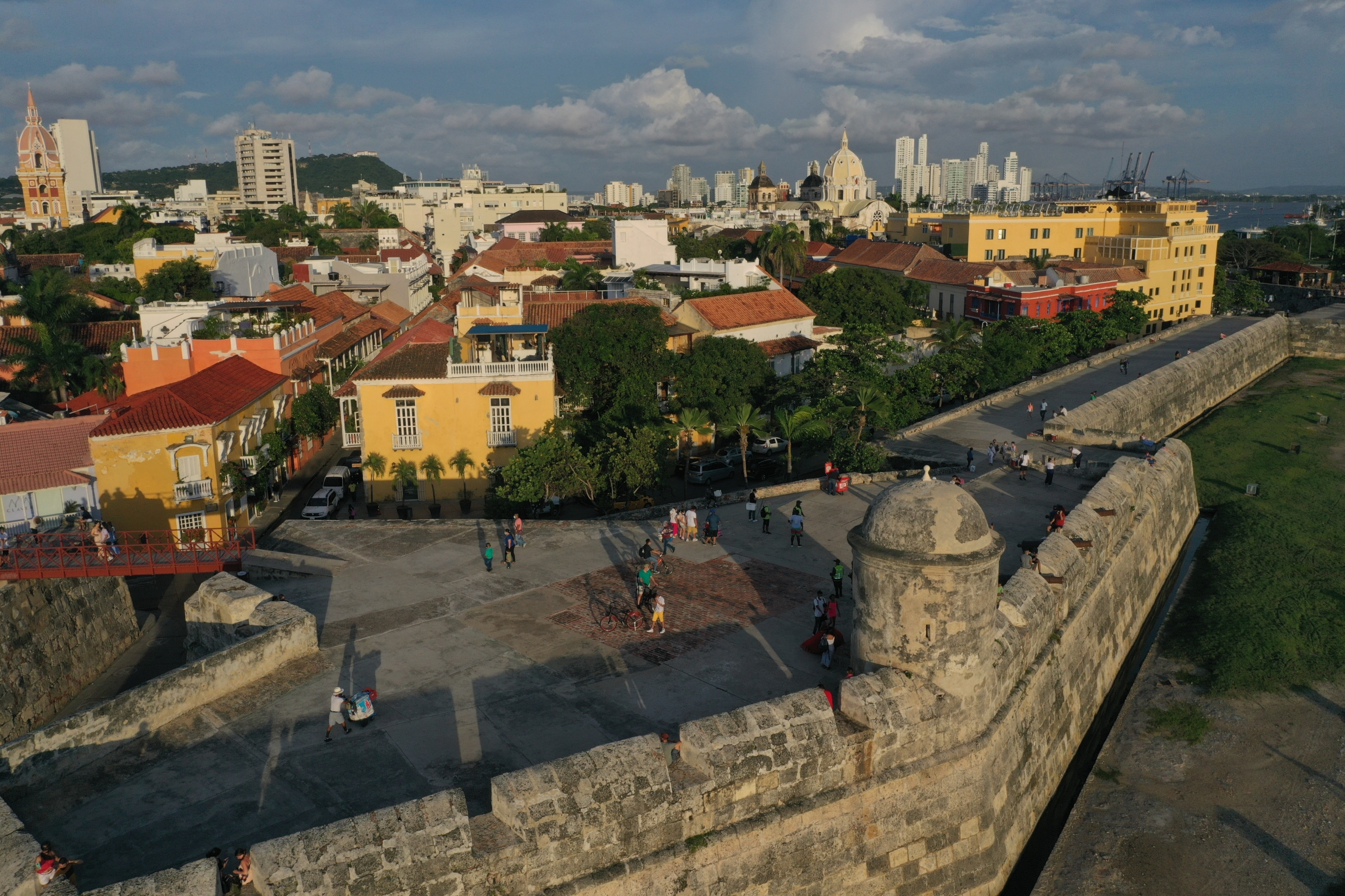 Cartagena's historical center is a UNESCO World Heritage site, and contains some of the best preserved examples of 18th century military architecture in the Caribbean