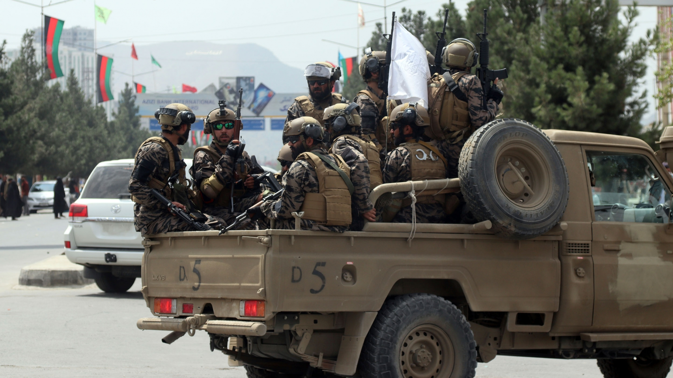 Taliban special force fighters arrive inside the Hamid Karzai International Airport after the US military's withdrawal, in Kabul, Afghanistan, Tuesday, Aug. 31, 2021.