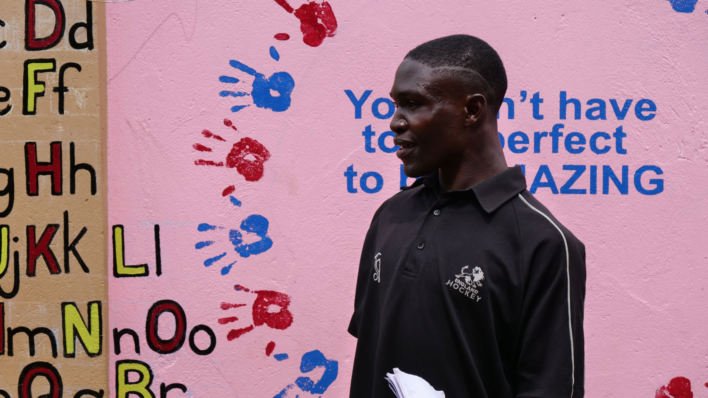 A bocca coach directs youth at the Support Disabled Children Ggaba organization in Kampala, Sept. 1, 2021.