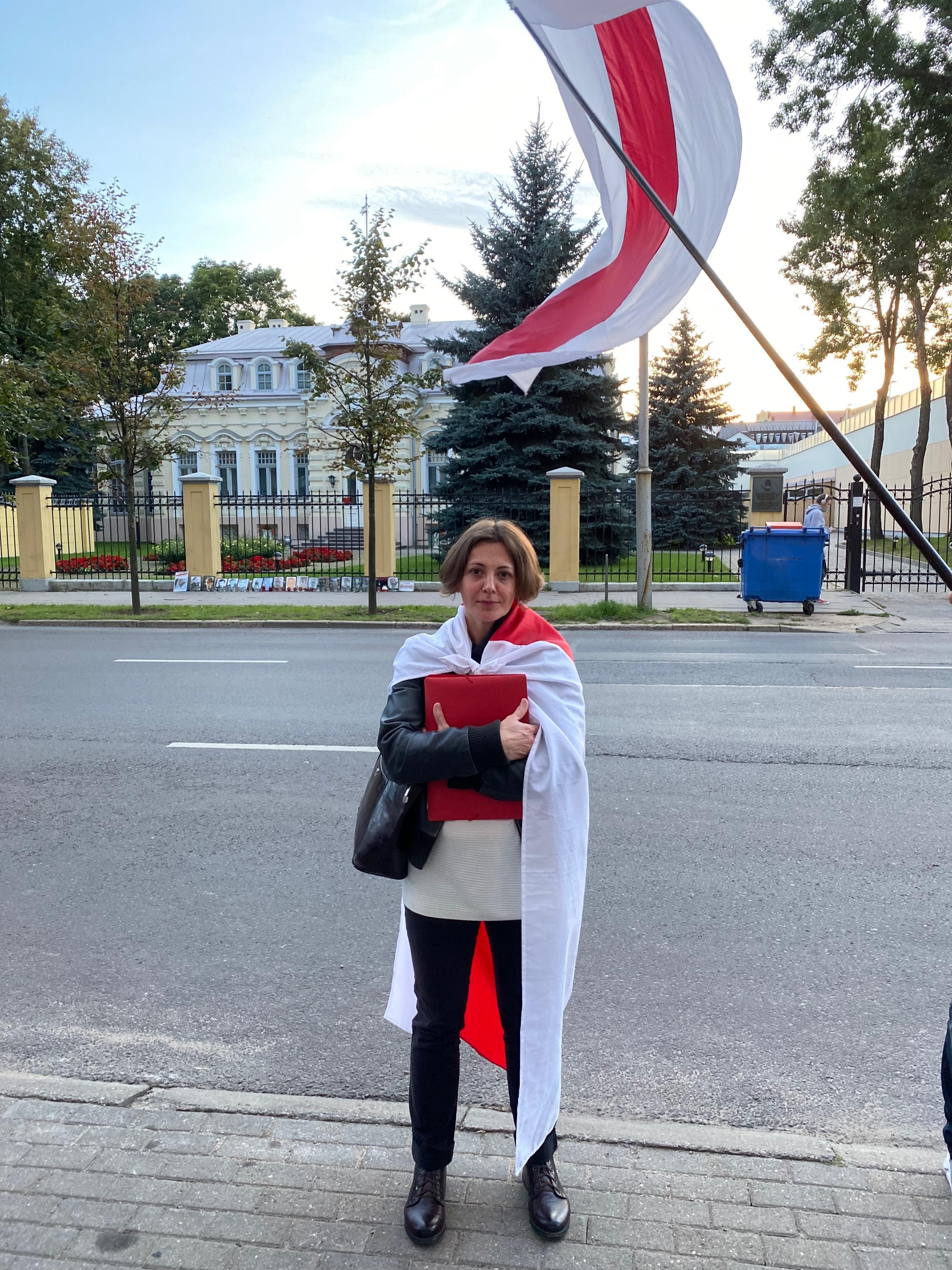 Protester Tatsiana Ihnatsyeva
