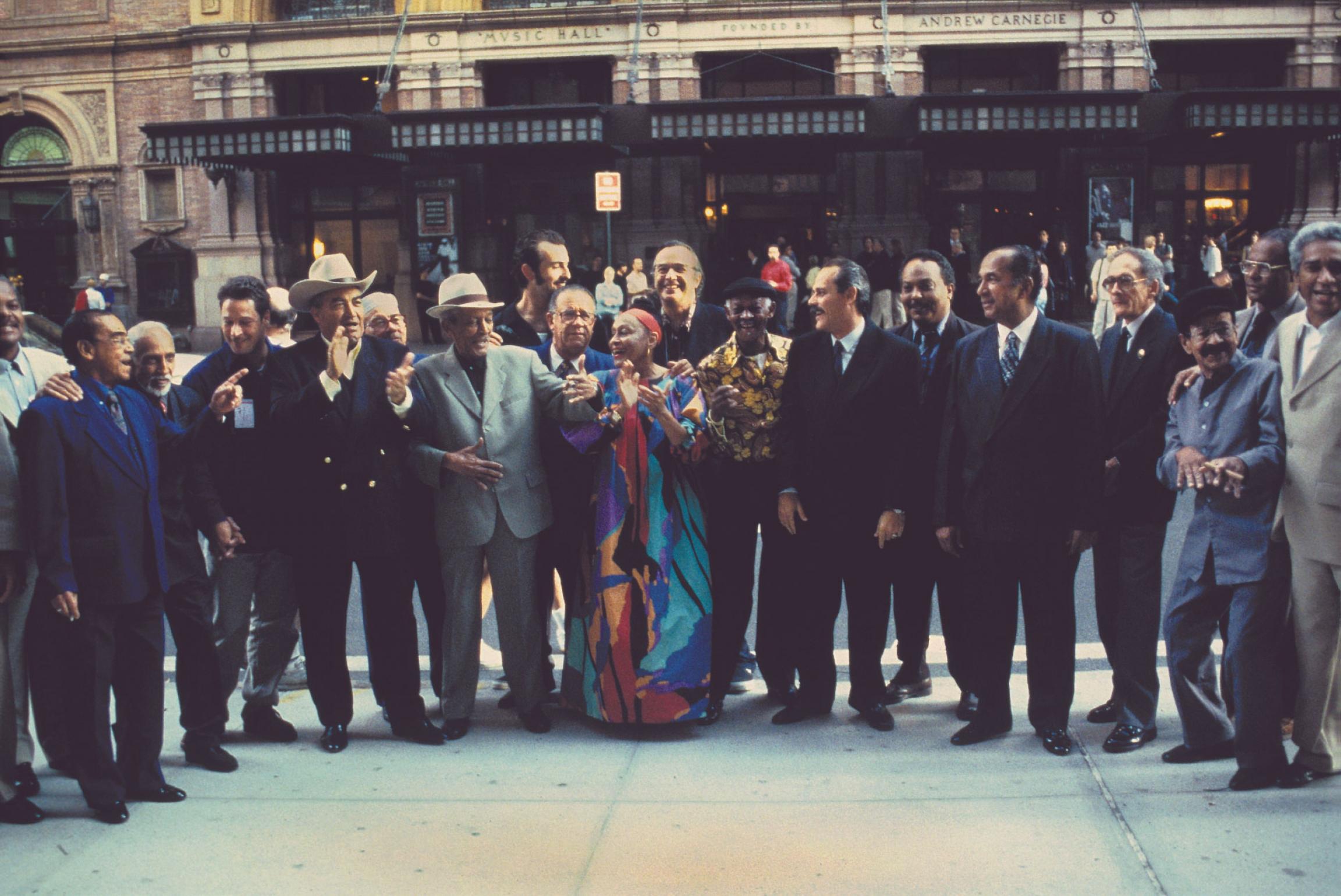 Buena Vista Social Club performs at Carnegie Hall in New York City, New York.