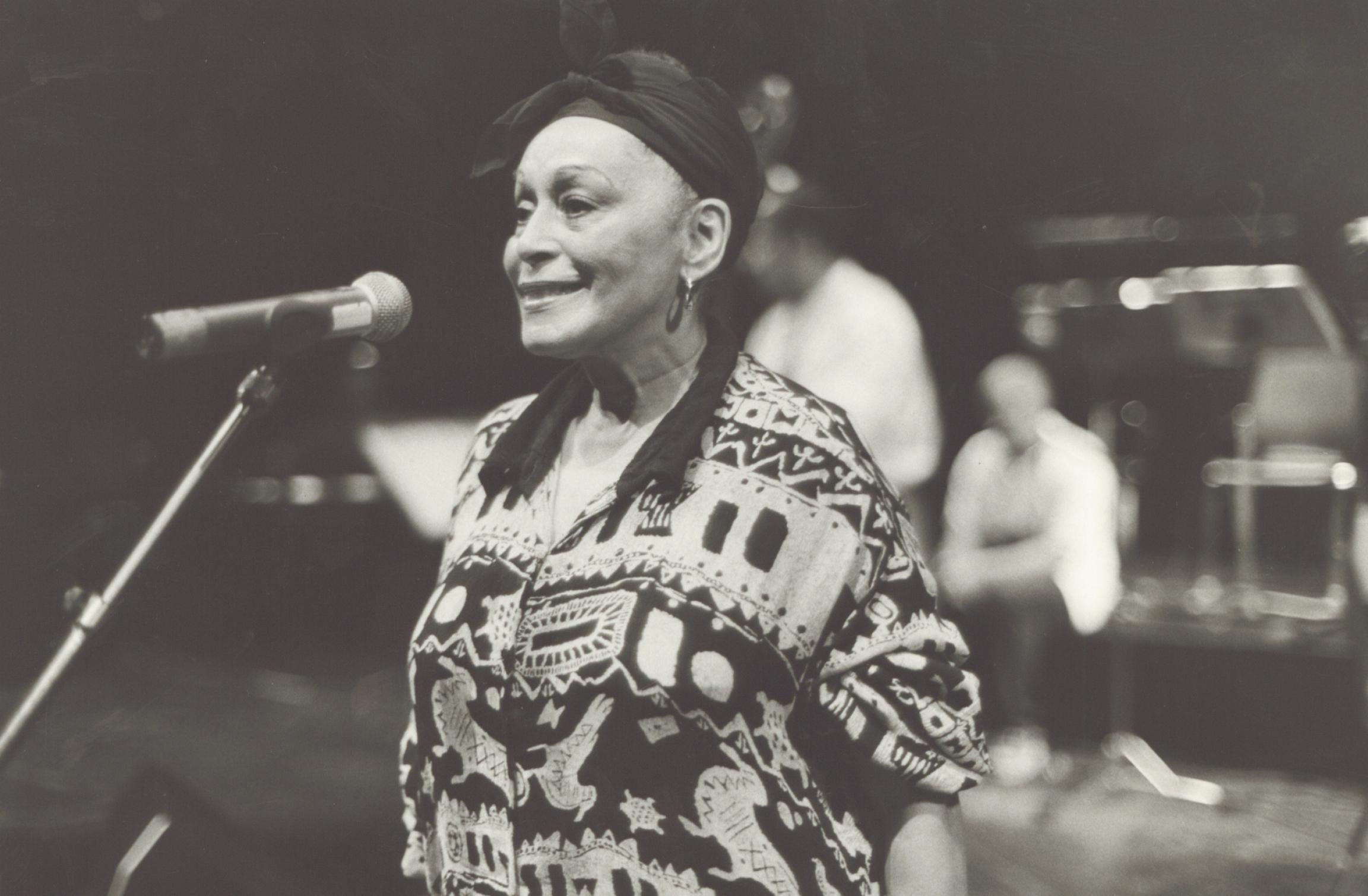 Omara Portuondo sings with Buena Vista Social Club.