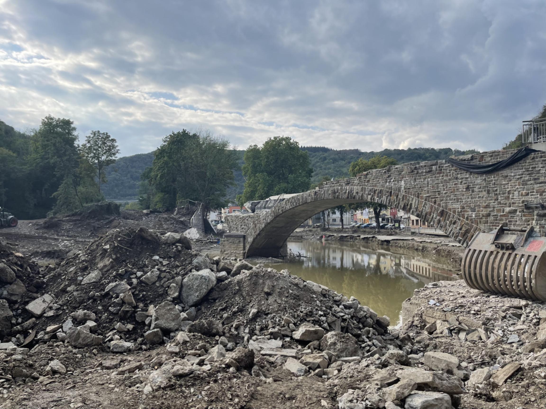 bridge destroyed