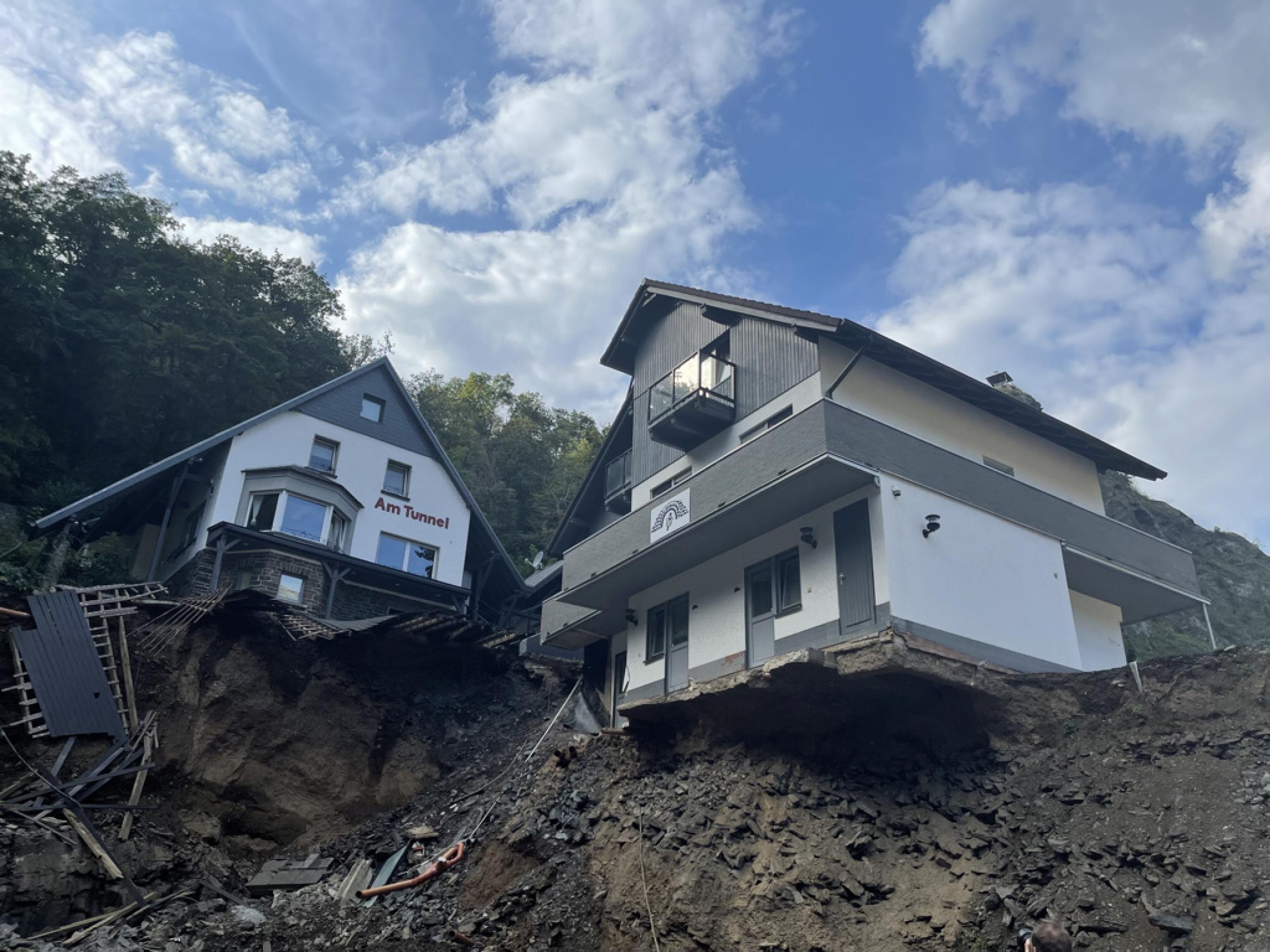 damaged homes up close