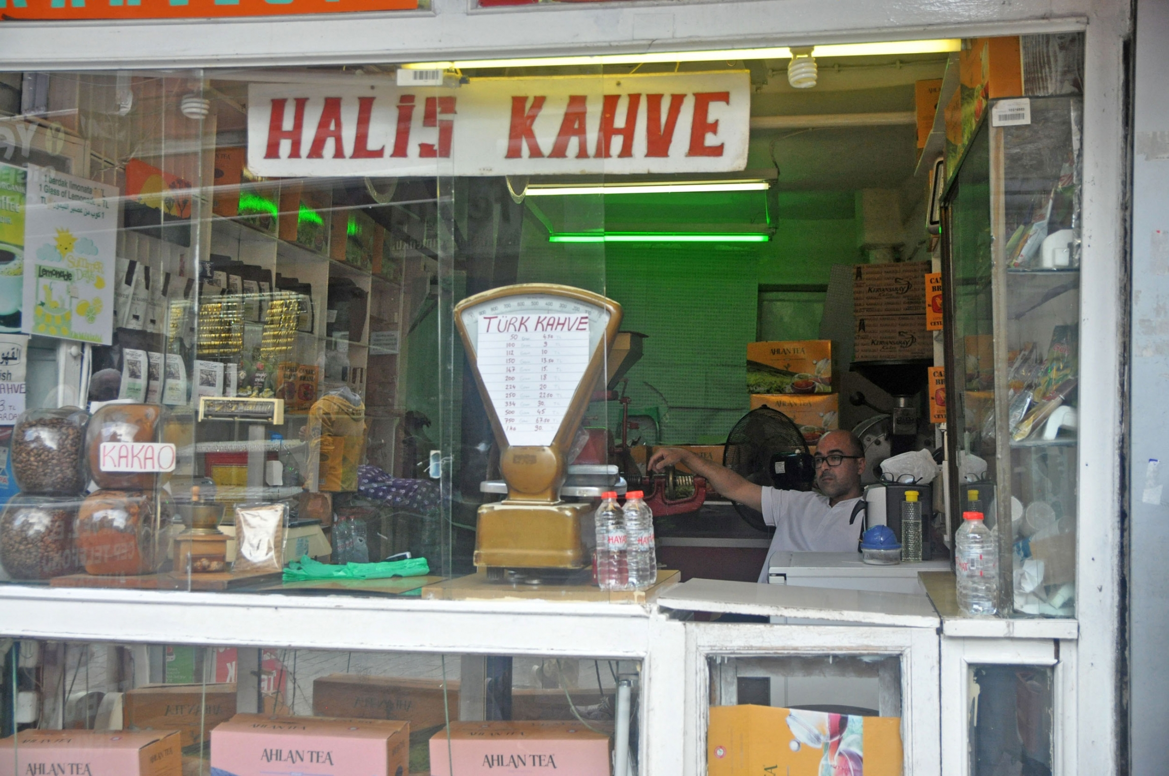 A Turkish coffee shop in a largely Syrian neighborhood of Istanbul.