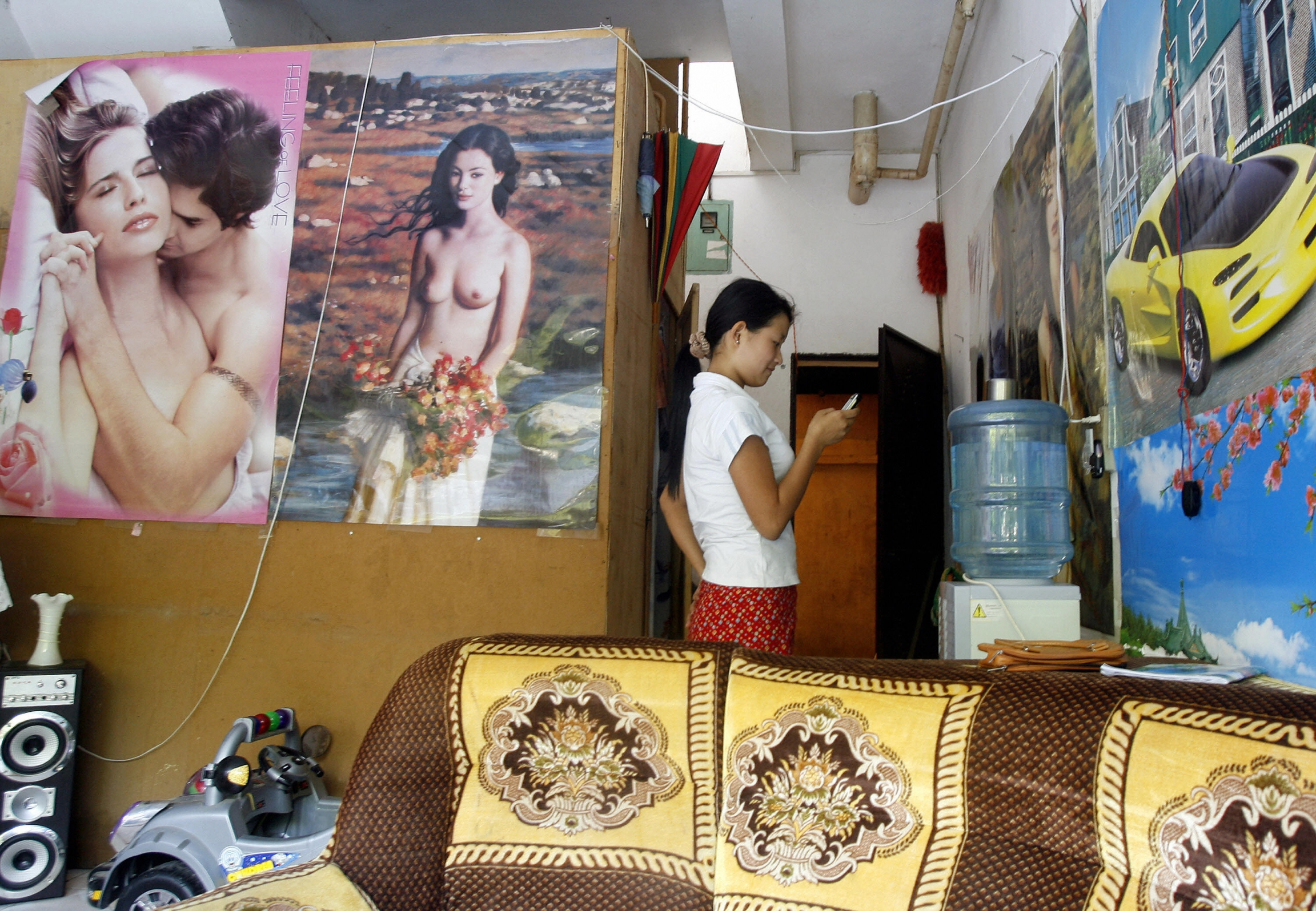 Myanmar massage girl