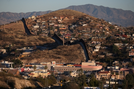 The USborder with Mexico in Nogales, Arizona