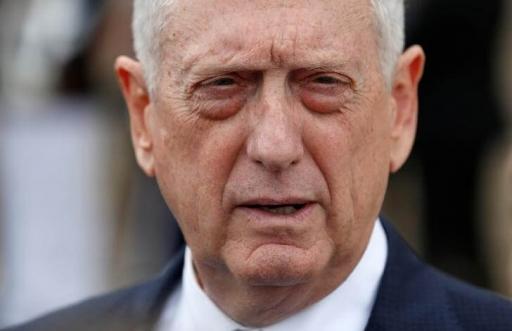 a closeup of Jim Mattis' face