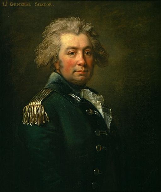 a painted Portrait of Lieutenant ColonelJohn Graves Simcoe