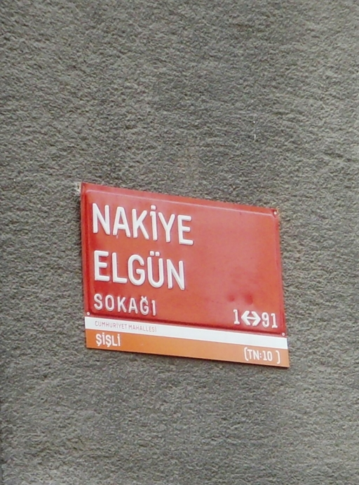 Nakiye Elgun street sign