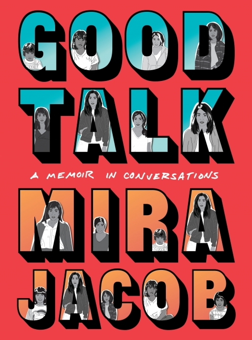 "The cover of the book ""Good Talk: A Memoir in Conversations"" showing the words on a red background."
