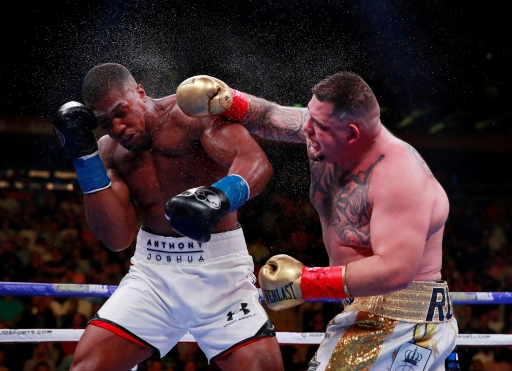 Andy Ruiz Jr in action with Anthony Joshua at Madison Square Garden, NYC, on June 1, 2019.