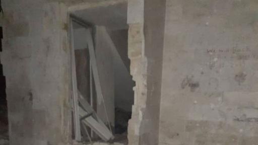 A bombed house in Idlib, Syria.
