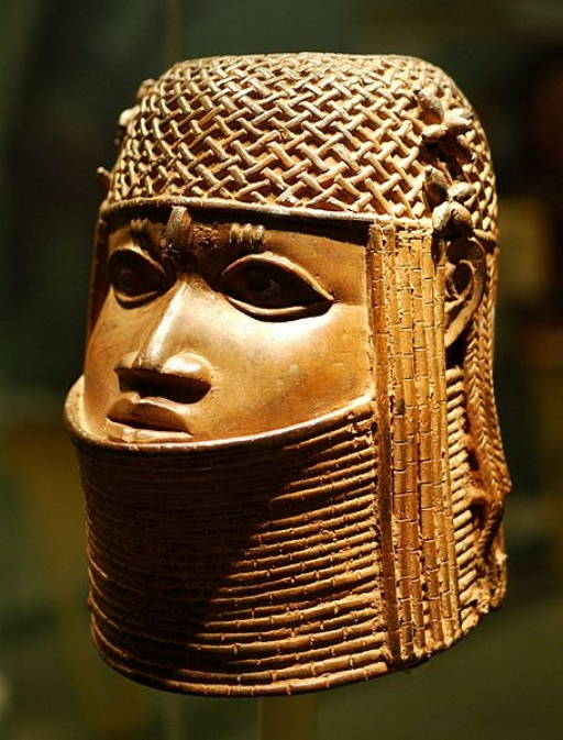 Ancestral head of an oba, or king, from the Kingdom of Benin.