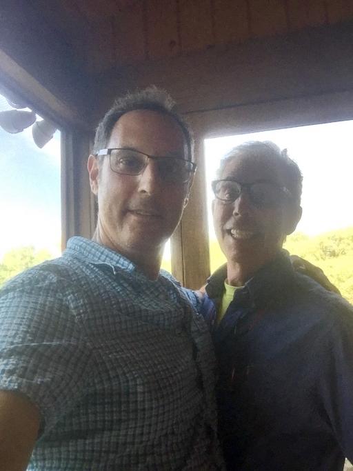 A selfie of two men
