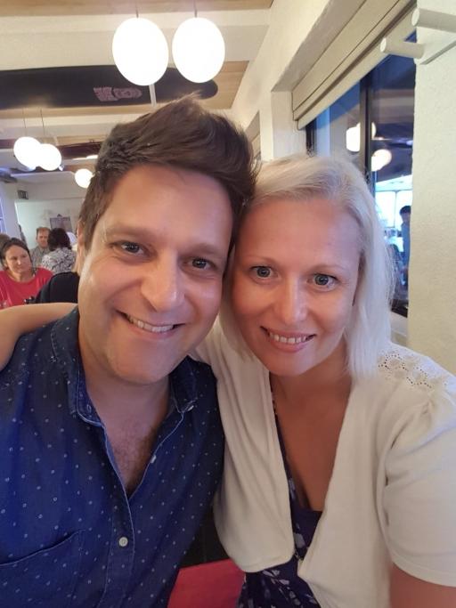 Sian Brindlow and her husband Nick