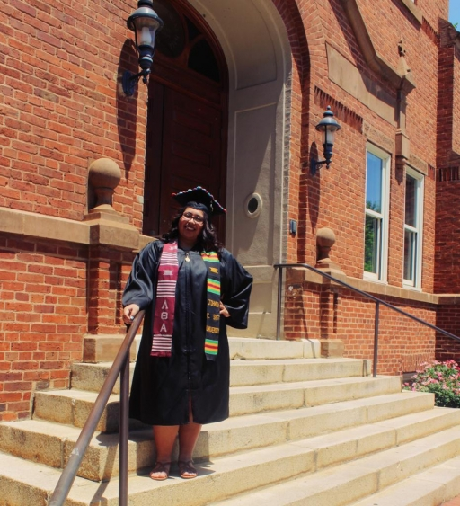 Madai Zamora, a former DACA recipient who moved to Mexico, graduated from Johnson C. Smith University, in Charlotte, North Carolina, earning a BA in English and Spanish in 2017.