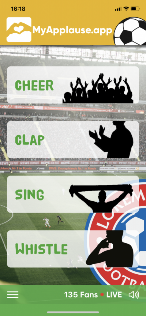 Screenshot from the app MyApplause