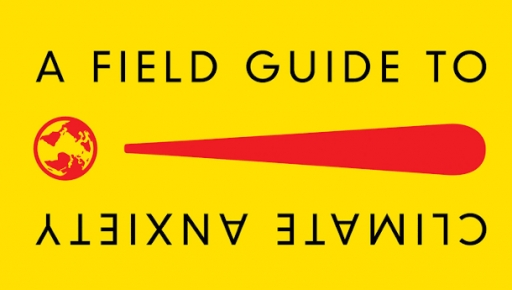 """Bright yellow cover to the """"A Field Guide to Climate Anxiety"""" book"""