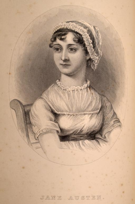 Jane Austen woodcut image