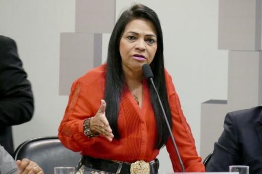 A photograph of politician Moema Gramacho.
