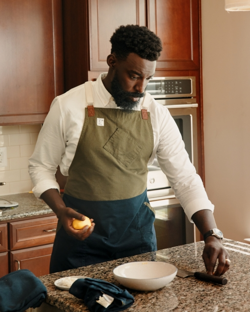 Ghanaian American chef Eric Adjepong is known for incorporating West African cuisine into his dishes.