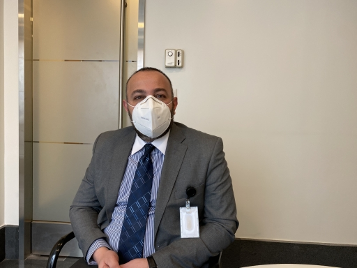 Nader Issa, chief nursing operations officer, at the Clemenceau Medical Center in Beirut, where he works.