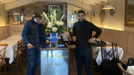 James Chiavarini runs Il Portico Italian restaurant in southwest London.