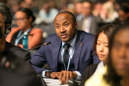 Seyni Nafo is theh spokesperson for the African Group of Negotiators at the COP26 climate talks.