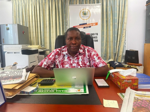 Dr. Stephen Ayisi-Addo is the program manager for Ghana's National AIDS control program.