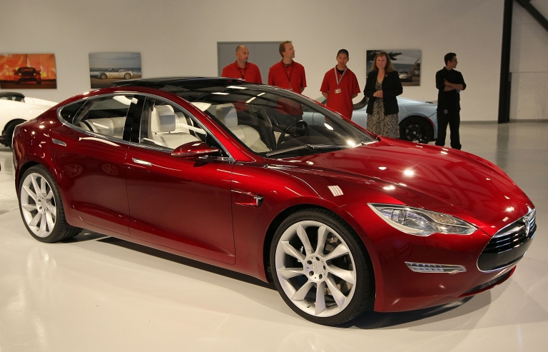 <p>High-end electric car maker Tesla posted its first quarterly profit on Wednesday with $11 million.</p>