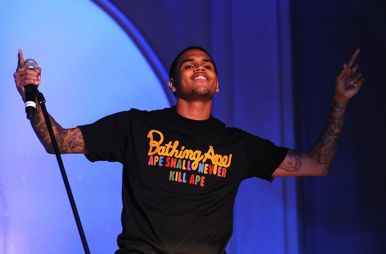 <p>Chris Brown performs at the premiere after party of Screen Gems' 'Takers' at Boulevard 3 on August 4, 2010 in Hollywood, California.</p>