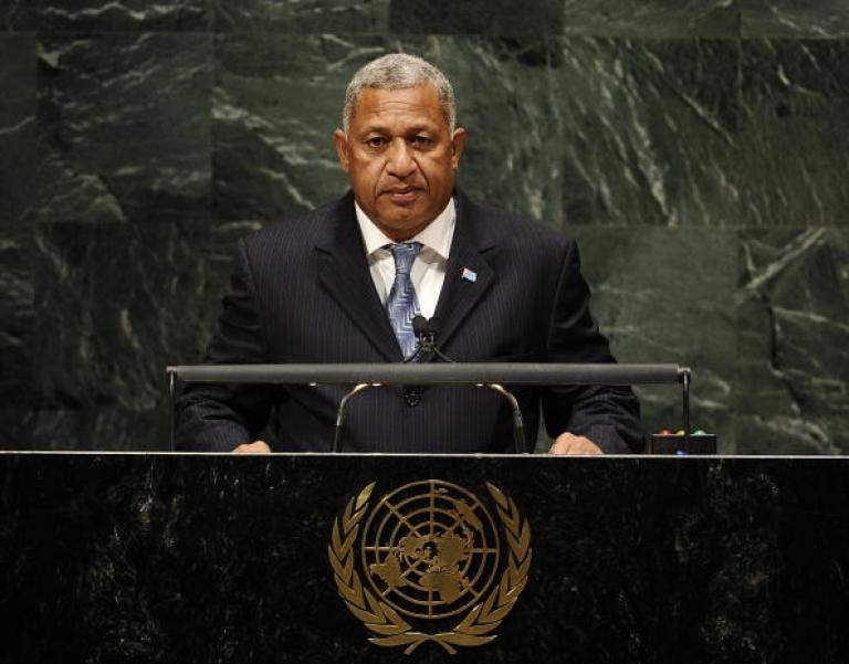 <p>Fiji's Prime Minister Commodore Voreqe
