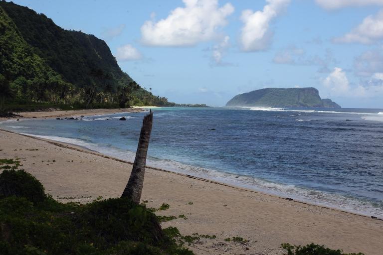 <p>A clean beach in Saleapaga, Samoa.</p>