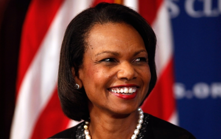 <p>WASHINGTON - OCTOBER 15:  Former Secretary of State Condoleezza Rice will be one of the faces of the NFL's