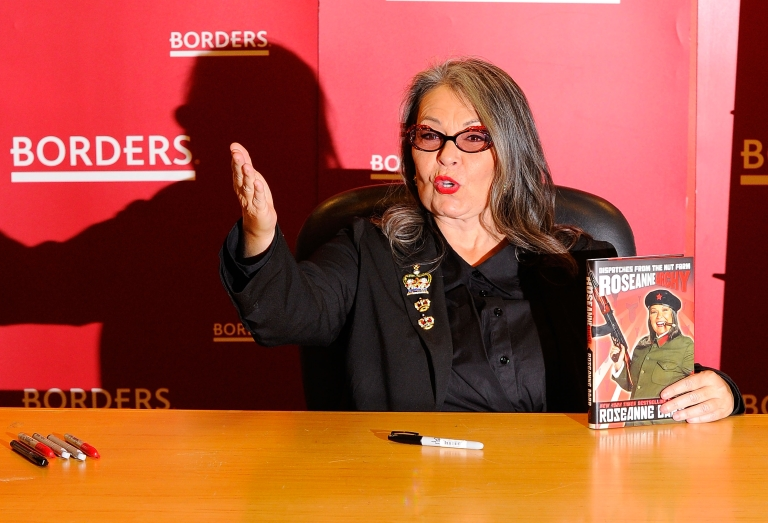 <p>Roseanne Barr promotes her book