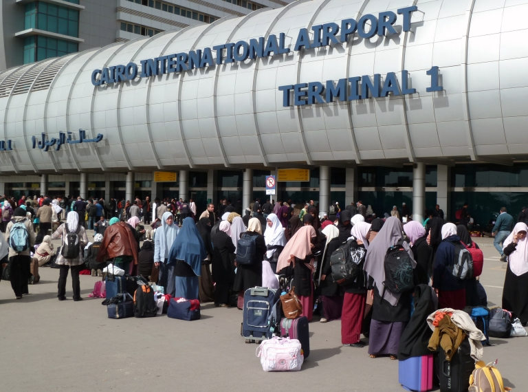 <p>Cairo's International Airport in February 2011. The first direct flight between Egypt and Iran in more than 30 years took off from Cairo and landed in Tehran on March 30, 2013.</p>