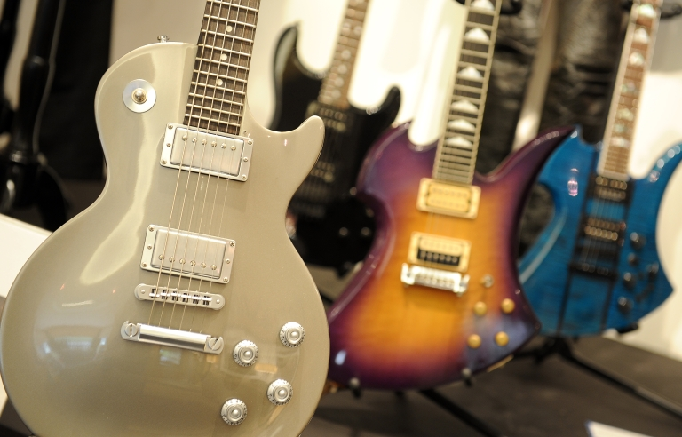 <p>Slash owned custom Gibson Les Paul studio guitar is on display during the preview of the sale of exclusive property from legendary guitarist and musician Slash at Julien's Auctions in Beverly Hills, California.</p>